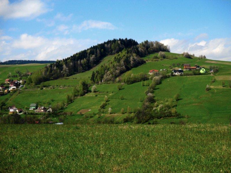 Widok na Sowią Górę z niebieskiego szlaku, fot. Andrzej Mleczko