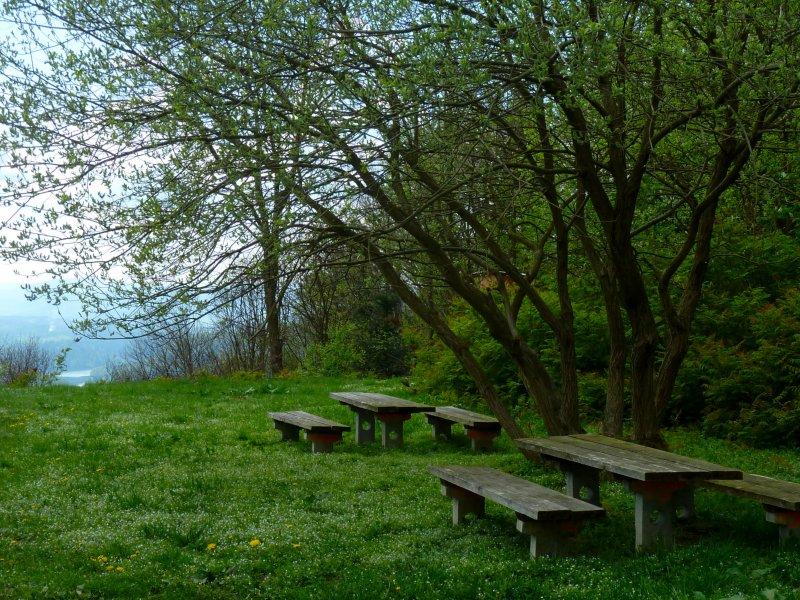 Taras widokowy z miejscem na odpoczynek na szczycie Holicy, fot. Jacek Dziwisz