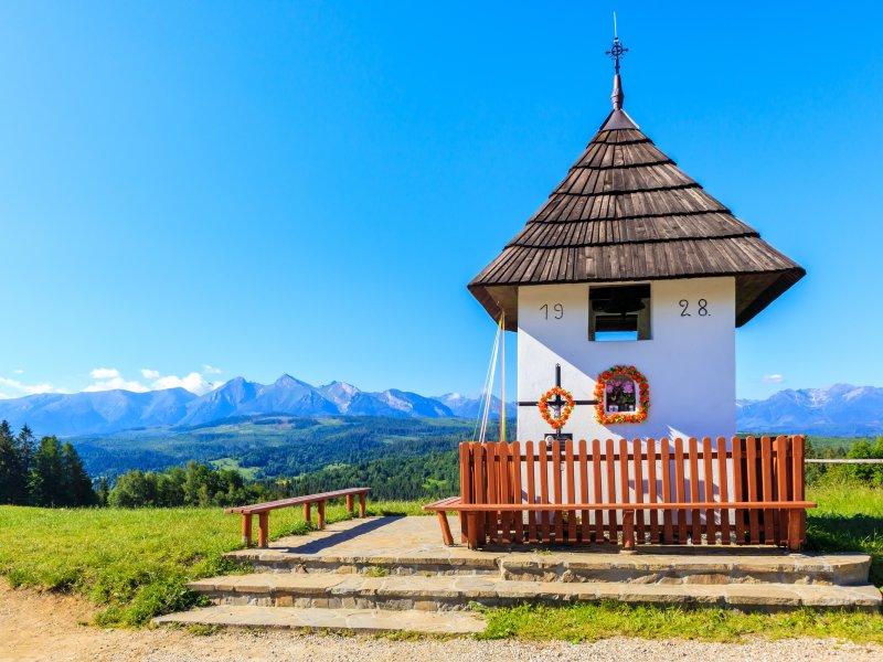 Kapliczka loretańska na Przełęczy nad Łapszanką