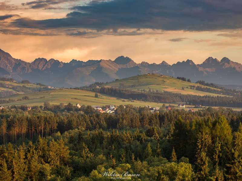 Panorama Tatr, fot.  Wiktor Baron Fotografia