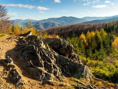 Panorama ze wzniesienia Dwernik Kamień